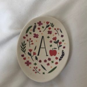 """Anthropologie """"A"""" ring tray"""